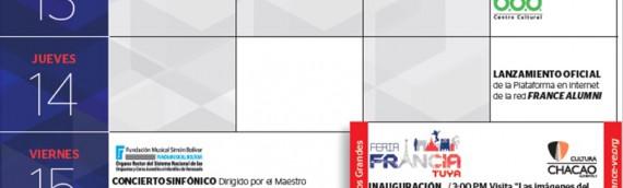 Asiste a la Semana de Francia en Caracas – 11 al 19 de mayo