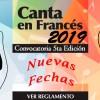 """Concurso Nacional """"CANTA EN FRANCÉS 2019"""" (Nuevas Fechas)"""
